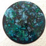 tableau rond en resine epoxy