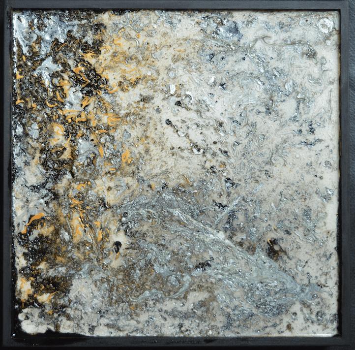 Resine grise carree